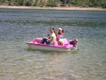 Amy Jean and I in a borrowed peddle boat